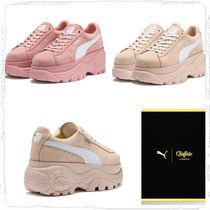 PUMA SUEDE Casual Style Collaboration Plain Low-Top Sneakers