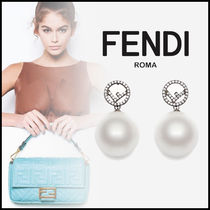FENDI Costume Jewelry Elegant Style Earrings & Piercings