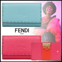 FENDI SELLERIA Plain Leather Accessories