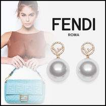 FENDI Costume Jewelry Elegant Style Earrings