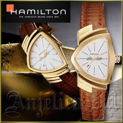 Unisex Blended Fabrics Leather Quartz Watches Elegant Style