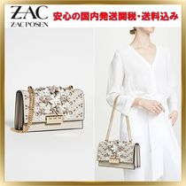 ZAC ZAC POSEN Flower Patterns Chain Plain Leather Elegant Style