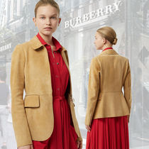 Burberry Suede Plain Medium Office Style Jackets