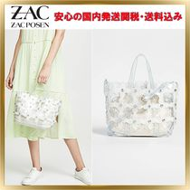 ZAC ZAC POSEN Flower Patterns Bag in Bag Plain PVC Clothing Elegant Style