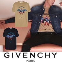 GIVENCHY Crew Neck Street Style Other Animal Patterns Cotton