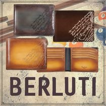 Berluti Calfskin Plain Folding Wallets