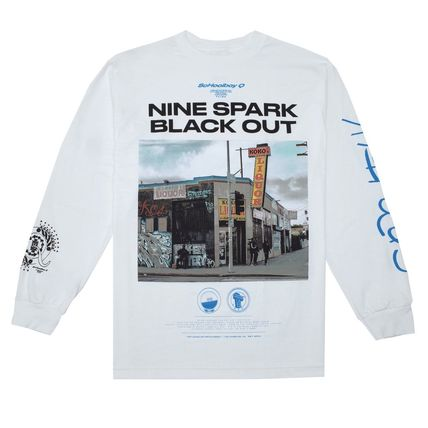 Crew Neck Unisex Street Style Long Sleeves Cotton