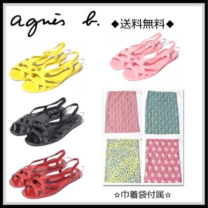 Open Toe Casual Style Street Style Plain Shower Shoes