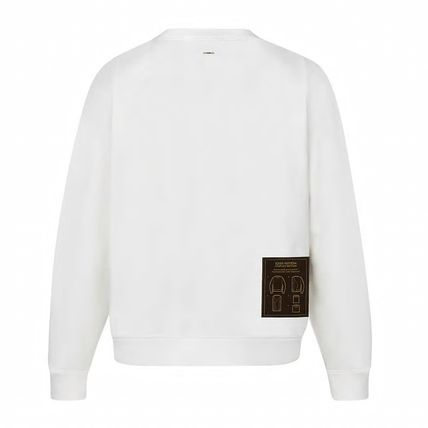 Louis Vuitton Sweatshirts Crew Neck Blended Fabrics Street Style Long Sleeves Plain 2