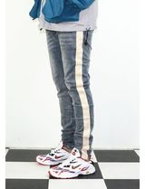 Insurgence Wear Stripes Denim Street Style Plain Skinny Jeans