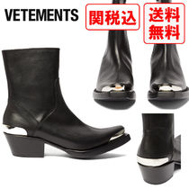 VETEMENTS Street Style Leather Boots