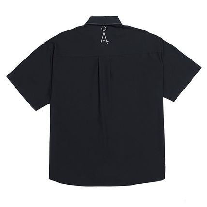 ADD SEOUL Shirts Street Style Plain Short Sleeves Oversized Shirts 8