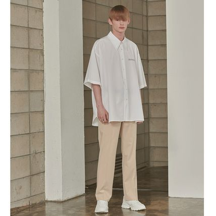 ADD SEOUL Shirts Street Style Plain Short Sleeves Oversized Shirts 15