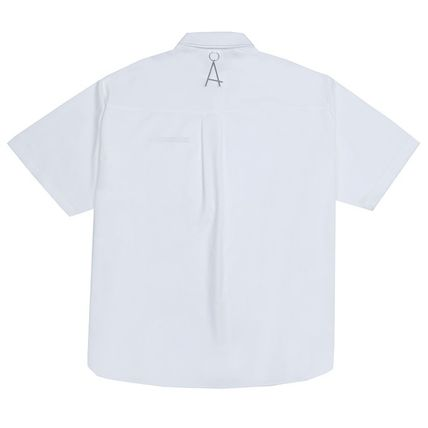 ADD SEOUL Shirts Street Style Plain Short Sleeves Oversized Shirts 19
