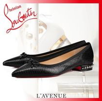 Christian Louboutin Blended Fabrics Studded Other Animal Patterns Leather