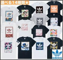 adidas Crew Neck Tropical Patterns Unisex Street Style