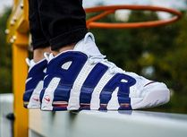 Nike AIR MORE UPTEMPO Street Style Leather Low-Top Sneakers