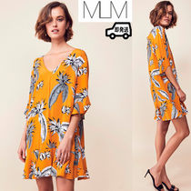 MLM Short Tropical Patterns Cropped Dresses