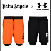 Palm Angels Street Style Collaboration Plain Joggers Shorts