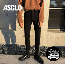 ASCLO Street Style Plain Cotton Jeans & Denim