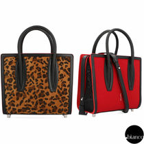 Christian Louboutin Paloma Leopard Patterns Calfskin 2WAY Elegant Style Handbags