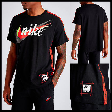 Nike More T-Shirts Street Style Cotton Short Sleeves T-Shirts 7