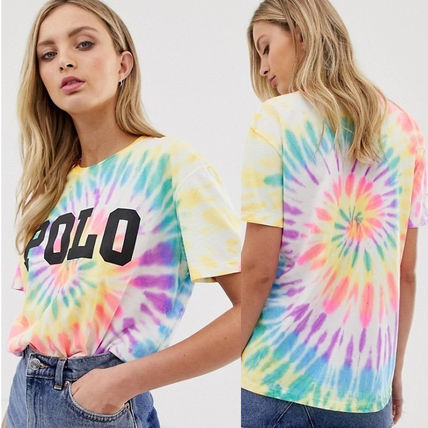 Crew Neck Tie-dye Medium Short Sleeves T-Shirts