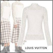 Louis Vuitton Flower Patterns Lace-up Long Sleeves Cotton Elegant Style