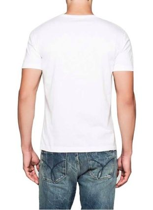 Calvin Klein Crew Neck Crew Neck Plain Cotton Short Sleeves Crew Neck T-Shirts 3
