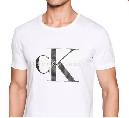 Calvin Klein Crew Neck Crew Neck Plain Cotton Short Sleeves Crew Neck T-Shirts 5