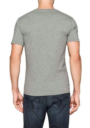 Calvin Klein Crew Neck Crew Neck Plain Cotton Short Sleeves Crew Neck T-Shirts 11