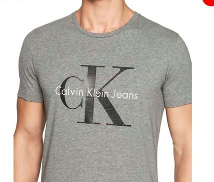 Calvin Klein Crew Neck Crew Neck Plain Cotton Short Sleeves Crew Neck T-Shirts 13