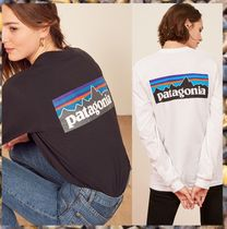Patagonia Crew Neck Unisex Street Style Long Sleeves Cotton T-Shirts