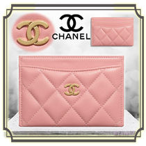 CHANEL TIMELESS CLASSICS Lambskin Plain Card Holders