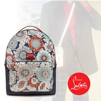 Christian Louboutin Flower Patterns Backpacks