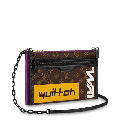 Louis Vuitton Messenger & Shoulder Bags Monogram Canvas Blended Fabrics Street Style 2WAY Bi-color 6