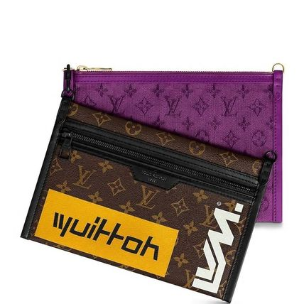 Louis Vuitton Messenger & Shoulder Bags Monogram Canvas Blended Fabrics Street Style 2WAY Bi-color 9