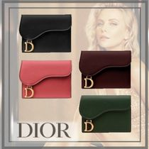Christian Dior Calfskin Plain Card Holders