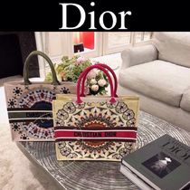 Christian Dior Casual Style Lambskin Street Style A4 2WAY Handmade Totes