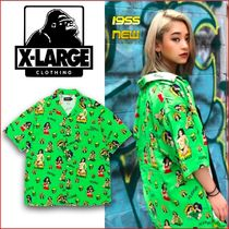 X-Large Other Check Patterns Unisex Nylon Street Style Short Sleeves