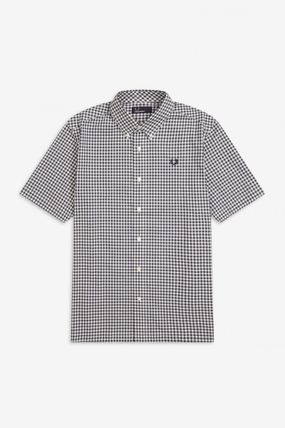 FRED PERRY Shirts Gingham Cotton Shirts 2