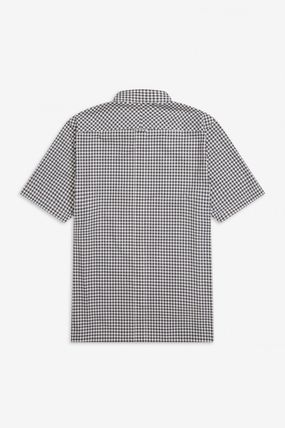 FRED PERRY Shirts Gingham Cotton Shirts 3