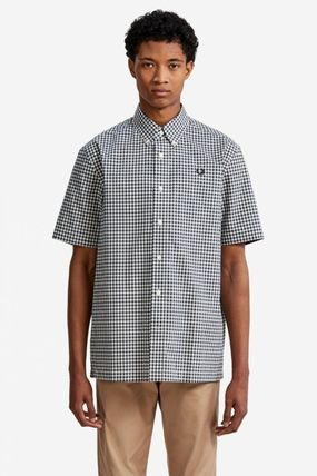 FRED PERRY Shirts Gingham Cotton Shirts 4