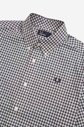 FRED PERRY Shirts Gingham Cotton Shirts 5