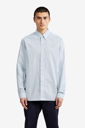 FRED PERRY Shirts Gingham Cotton Shirts 9