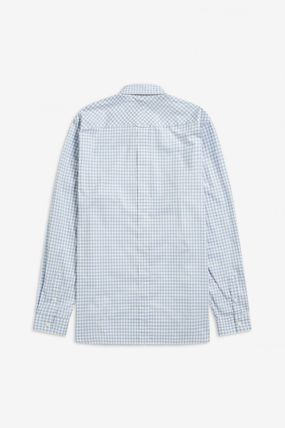 FRED PERRY Shirts Gingham Cotton Shirts 11