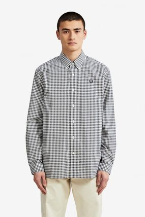 FRED PERRY Shirts Gingham Cotton Shirts 13