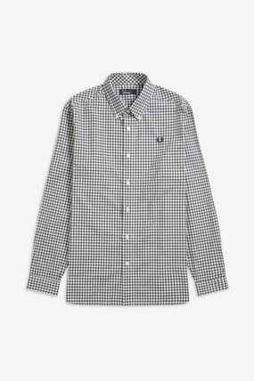 FRED PERRY Shirts Gingham Cotton Shirts 14