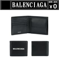 BALENCIAGA EVERYDAY TOTE Plain Leather Folding Wallets