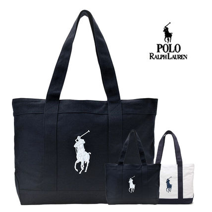 Casual Style Unisex Plain Totes